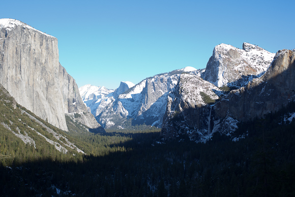 Yosemite from Tunnel View - January 2011